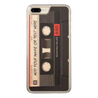 Vintage Music Cassette Tape Look Carved iPhone 8 Plus/7 Plus Case