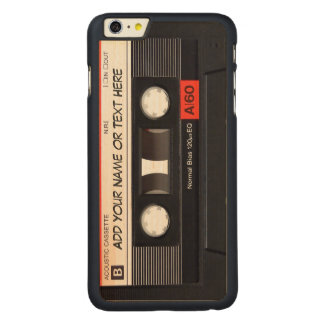 Vintage Music Cassette Tape Look Carved Maple iPhone 6 Plus Slim Case