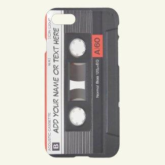 Vintage Music Cassette Tape Look