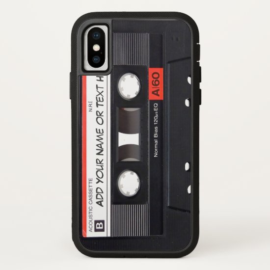 Vintage Music Cassette Tape Look iPhone X Case