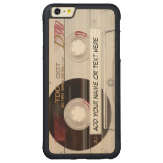 Vintage Music Cassette Tape Look Pattern Carved® Maple iPhone 6 Plus Bumper