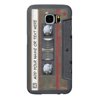 Vintage Music Cassette Tape Look Samsung Galaxy S6 Case