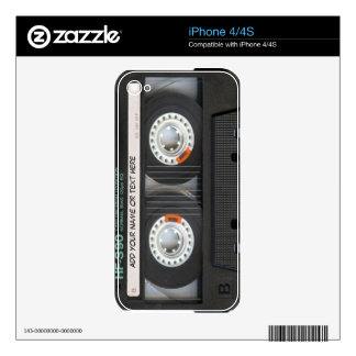 Vintage Music Cassette Tape Look Decals For The iPhone 4