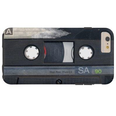 Vintage Music Cassette Tape Look Tough iPhone 6 Plus Case
