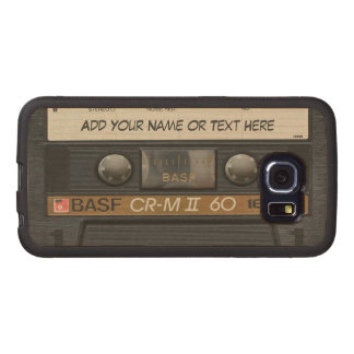 Vintage Music Cassette Tape Look Wood Phone Case