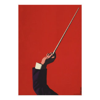 Vintage Music Conductor s Hand Holding a Baton Posters