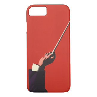 Vintage Music, Conductor's Hand Holding a Baton iPhone 8/7 Case