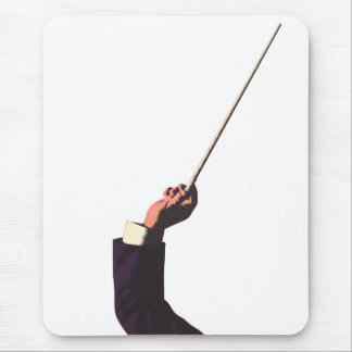 Vintage Music, Conductor's Hand Holding a Baton Mouse Pad