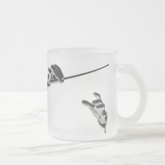 Vintage Music, Conductor's Hands with a Baton 10 Oz Frosted Glass Coffee Mug