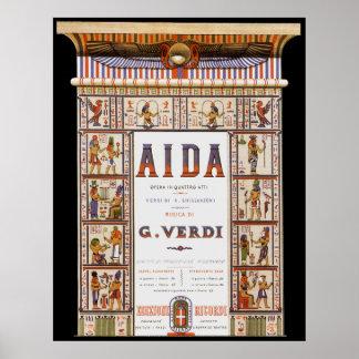 Vintage Music Egyptian Aida Opera by Verdi Print
