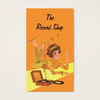 Vintage Music Girl Business Card