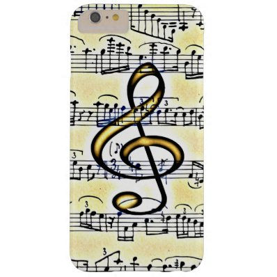 Vintage Music Gold Color Treble Clef Barely There iPhone 6 Plus Case