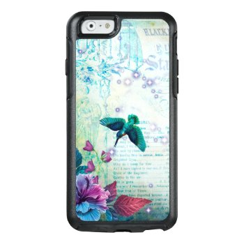 Vintage Music Hummingbird Lavender Teal Mauve Blue Otterbox Iphone 6/6s Case by SterlingMoon at Zazzle