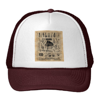 Vintage Music Instruments Dictionary Art Trucker Hat