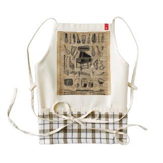 Vintage Music Instruments Dictionary Art Zazzle HEART Apron