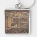 Vintage Music, Jenny Lind, Swedish Opera Singer Silver-Colored Square Keychain