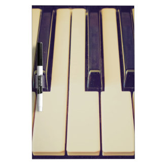 Vintage music keyboard dry erase board