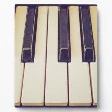 Vintage music keyboard photo plaque