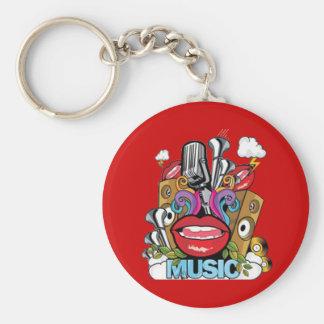 Vintage Music Keychain