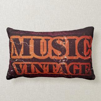 Vintage Music Lumbar Pillow