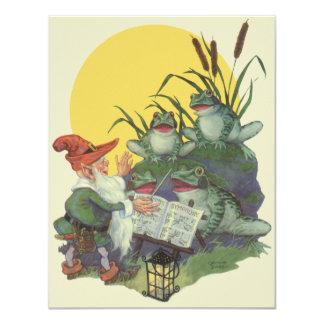 Vintage Music Magazine Cover Art, Etude Frog Choir Card