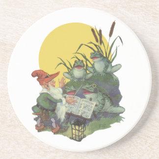 Vintage Music Magazine Cover Art, Etude Frog Choir Coasters