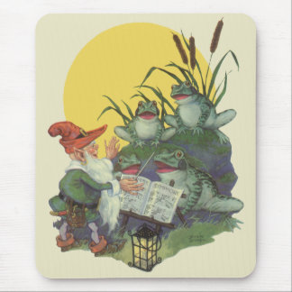 Vintage Music Magazine Cover Art, Etude Frog Choir Mouse Pad