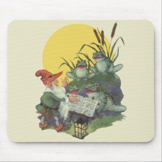 Vintage Music Magazine Cover Art, Etude Frog Choir Mouse Pad