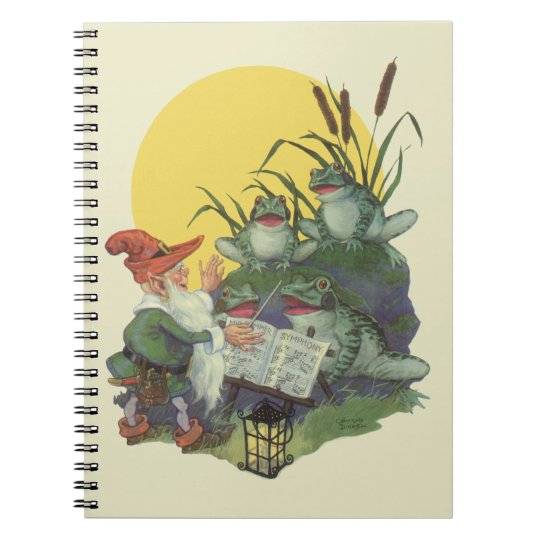 Vintage Music Magazine Cover Art, Etude Frog Choir Notebook