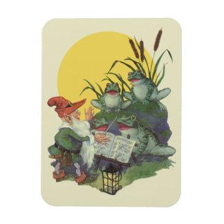 Vintage Music Magazine Cover Art, Etude Frog Choir Rectangle Magnet
