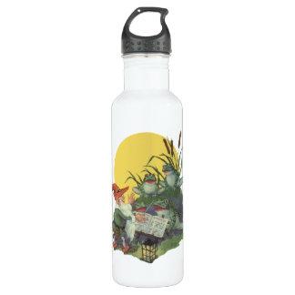 Vintage Music Magazine Cover Art, Etude Frog Choir Stainless Steel Water Bottle