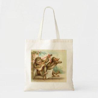 Vintage Music Monkeys Tote Bag