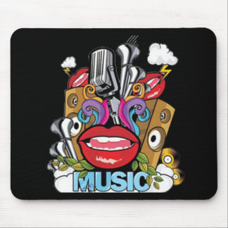 Vintage Music Mouse Pad