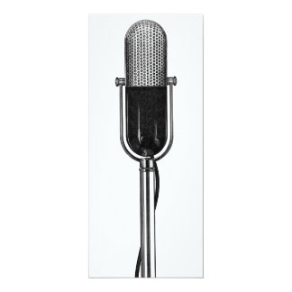 Vintage Music Musical Microphone Birthday Party Card