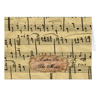 Vintage music Note Cards