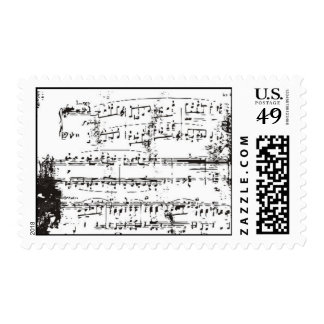 Vintage Music Note Postage Stamps