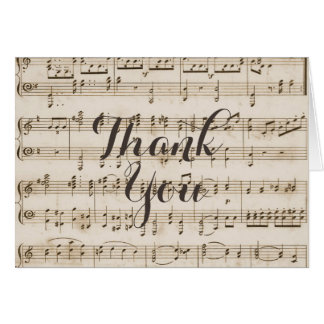 Musical Thank You Note Cards | Zazzle