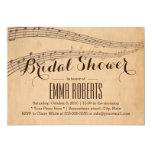 Vintage Music Notes Bridal Shower Invitations