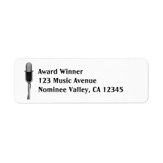 Vintage Music Old Fashioned Retro Microphone Custom Return Address Label