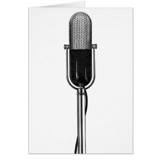 Vintage Music, Old Fashoined Retro Microphone Card