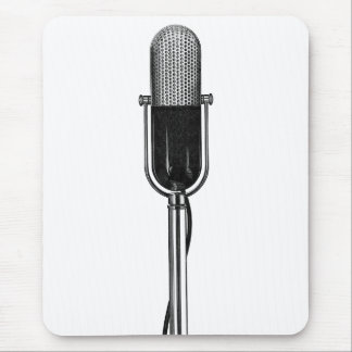 Vintage Music, Old Fashoined Retro Microphone Mouse Pad