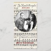 Vintage Music Photo Christmas Card