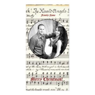 Vintage Music Photo Christmas Card Photo Card
