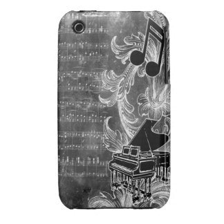 Vintage music piano notes 3g iphone case iPhone 3 covers