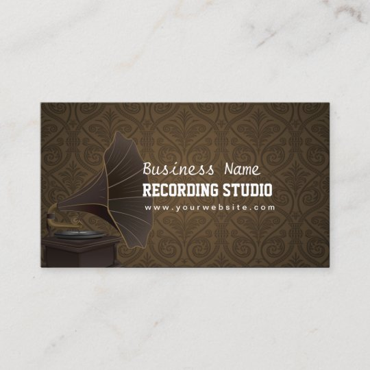 Vintage Music Production Recording Studio Business Card