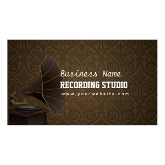 Vintage Music Recording Studio Business Card