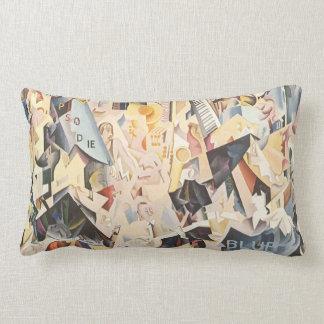 Vintage Music, Rhapsody in Blue Art Deco Jazz Throw Pillows