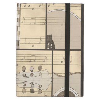 Vintage Music Sheet and Pop Art Abstract Guitar Case For iPad Air