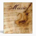 Vintage Music Sheet And Rose Binder