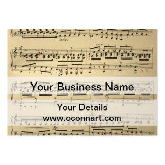 Vintage Music Sheet Business Card